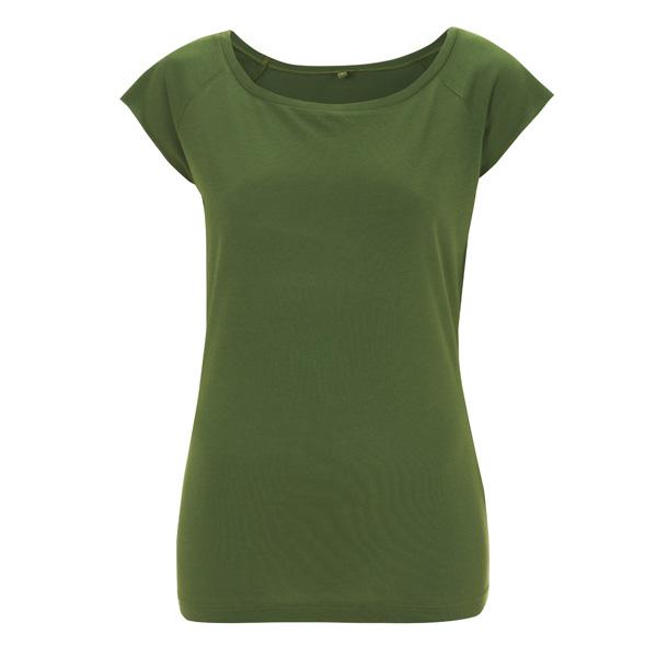 Koksgrå t skjorte i 70 % bambusviskose og 30 % økologisk