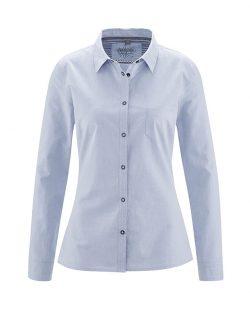 Blå skjorte til dame - økologisk bomull og hamp » Etiske & økologiske klær » Grønt Skift