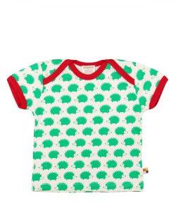 T-skjorte med lysegrønne piggsvin til baby - 100 % økologisk bomull » Etiske & økologiske klær » Grønt Skift