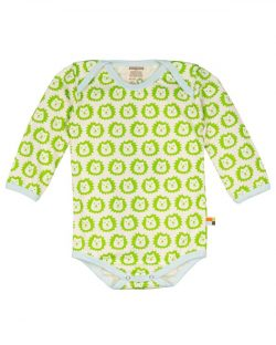 Langermet body med lime-fargede løver fra Loud + Proud - 100 % økologisk bomull » Etiske & økologiske klær » Grønt Skift
