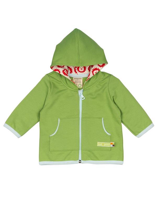0408cca0 Grønn hettegenser med glidelås - 100 % økologisk bomull » Grønt Skift