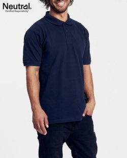Marineblå polo t-skjorte til herre fra Neutral - 100 % økologisk bomull » Etiske & økologiske klær » Grønt Skift
