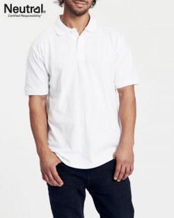 Hvit polo t-skjorte til herre fra Neutral - 100 % økologisk bomull » Etiske & økologiske klær » Grønt Skift