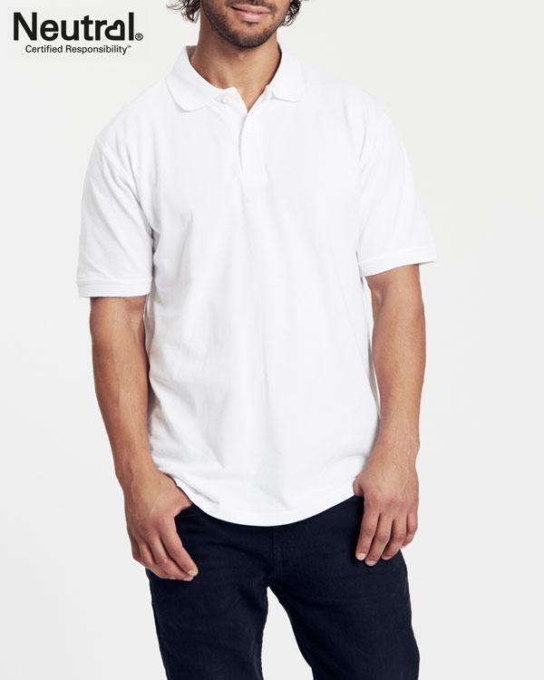 Hvit polo t skjorte 100 % økologisk bomull » Grønt Skift