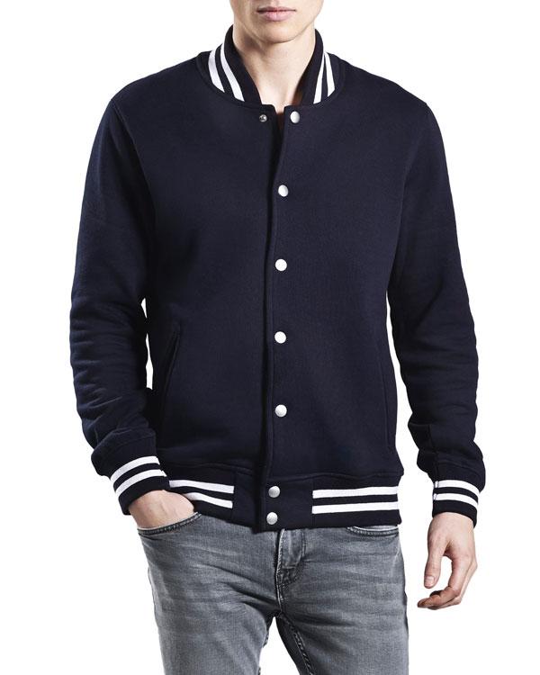 92bf8841 Lett og fin jakke i marineblått - 100 % økologisk bomull » Grønt Skift
