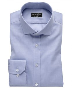 Blå normal fit skjorte til herre fra Ernst Alexis - økologisk bomull » Etiske & økologiske klær » Grønt Skift