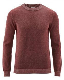 Kastanjefarget strikket genser til herre fra HempAge - økologisk bomull og hamp » Etiske & økologiske klær » Grønt Skift