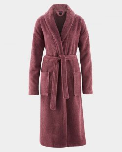 Badekåpe rød til dame fra Living Craft - 100 % økologisk bomull » Etiske & økologiske klær » Grønt Skift