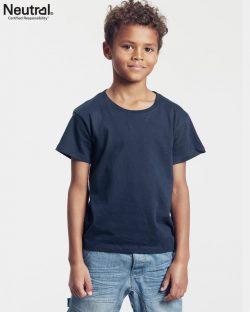 Mørkeblå unisex t-skjorte til barn fra Neutral - 100 % økologisk fairtrade-bomull » Etiske & økologiske klær » Grønt Skift