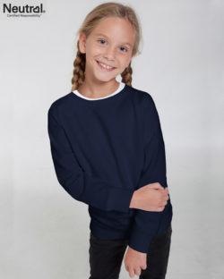 Mørkeblå ensfarget unisex genser til barn fra Neutral - 100 % økologisk fairtrade-bomull » Etiske & økologiske klær » Grønt Skift