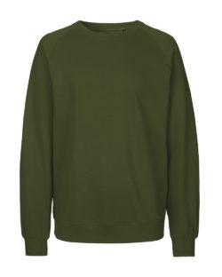 Militærgrønn genser - 100 % økologisk bomull » Etiske & økologiske klær » Grønt Skift