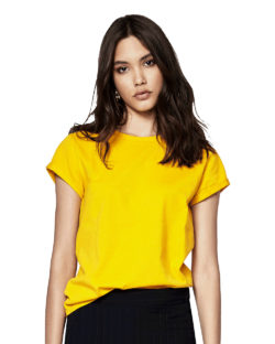 Kortermet t-skjorte gyllengul - 100 % økologisk » Etiske & økologiske klær » Grønt Skift