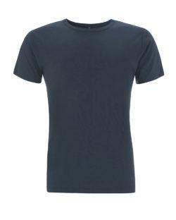 Denimblå t-skjorte i 70 % bambusviskose og 30 % økologisk bomull » Etiske & økologiske klær » Grønt Skift