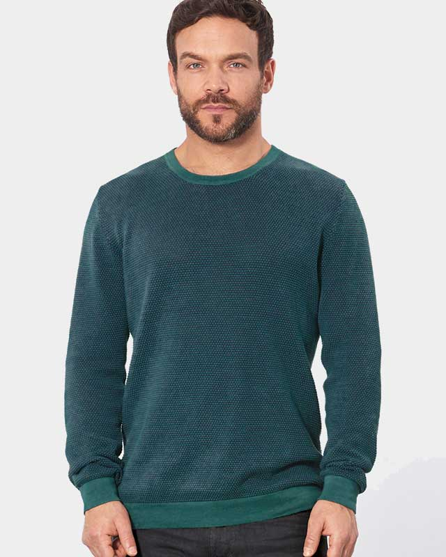 e98f12d8 bomull hamp Blågrønn økologisk strikket og Skift » genser Grønt twpqT7XpOW