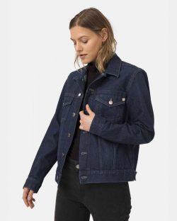 Tyler jacket - Strong blue unisex denimjakke i resirkulert og økologisk bomull » Etiske & økologiske klær » Grønt Skift