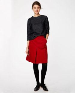 Rødt kordfløyel skjørt i økologisk bomull » Etiske & økologiske klær » Grønt Skift