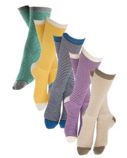 5 par sokker av 5 ulike farger - grønn, gul, blå, lilla og brun » Etiske & økologiske klær » Grønt Skift