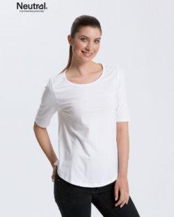Hvit t-skjorte med 2/4 arm - 100 % økologisk bomull » Etiske & økologiske klær » Grønt Skift