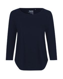 Mørkeblå topp med 3/4 ermer - 100 % økologisk bomull » Etiske & økologiske klær » Grønt Skift