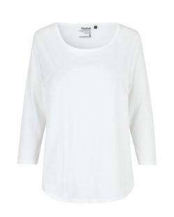 Hvit topp med 3/4 ermer - 100 % økologisk bomull » Etiske & økologiske klær » Grønt Skift