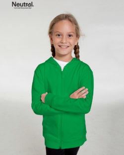 Grønn ensfarget hettejakke - 100 % økologisk bomull » Etiske & økologiske klær » Grønt Skift
