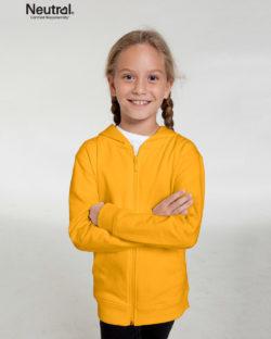 Gul ensfarget hettejakke - 100 % økologisk bomull » Etiske & økologiske klær » Grønt Skift