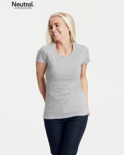 Lysegrå slightly fitted t-skjorte – 100 % økologisk bomull » Etiske & økologiske klær » Grønt Skift