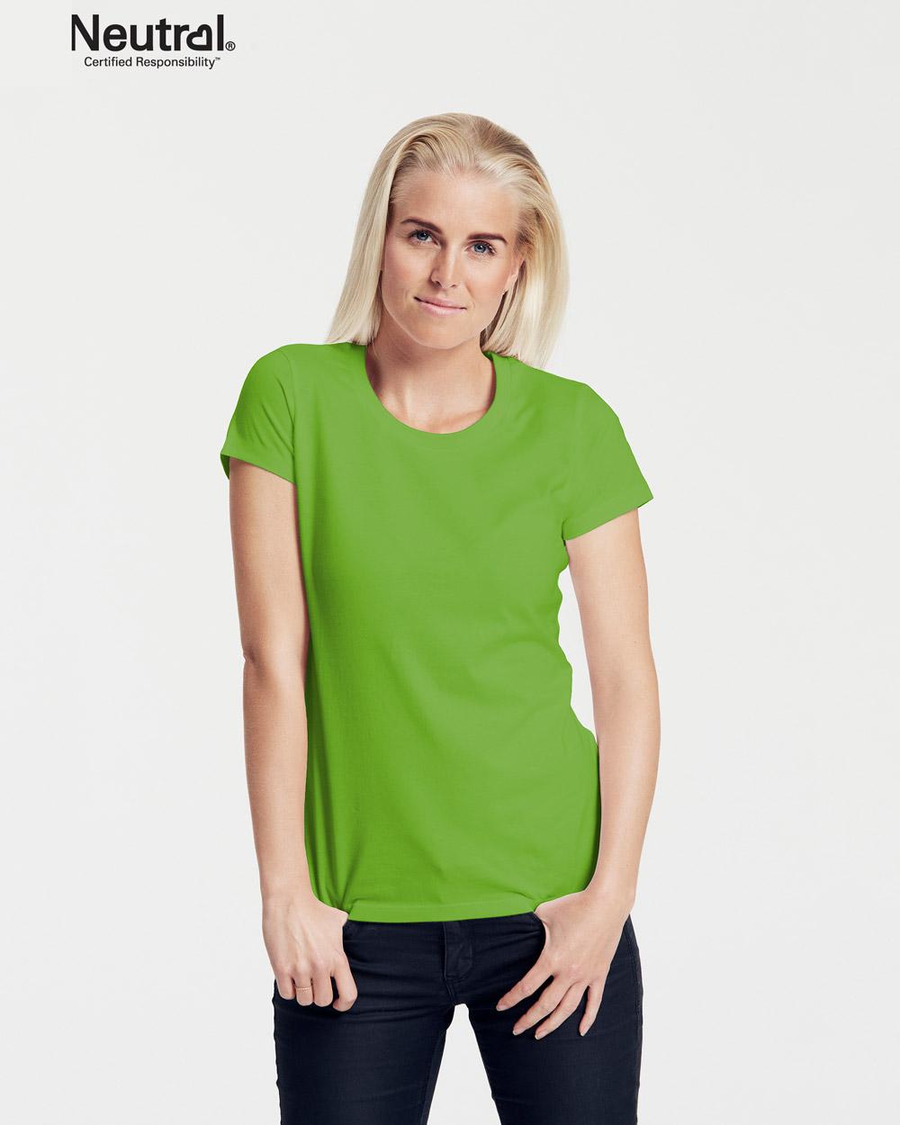 Rød slightly fitted t skjorte 100 % økologisk bomull