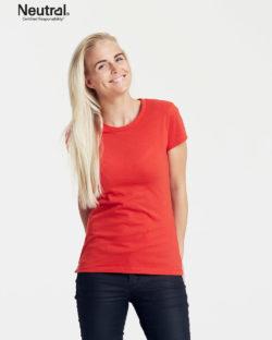 Rød slightly fitted t-skjorte - 100 % økologisk bomull » Etiske & økologiske klær » Grønt Skift