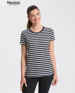 Mørkeblå og hvit stripete t-skjorte - 100 % økologisk bomull » Etiske & økologiske klær » Grønt Skift