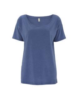 Denimblå t-skjorte i 50 % økologisk bomull og 50 % Tencel Lyocell » Etiske & økologiske klær » Grønt Skift