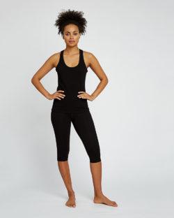Sorte knelange leggings til trening og yoga - økologisk bomull » Etiske & økologiske klær » Grønt Skift
