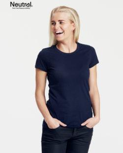 Mørkeblå slightly fitted t-skjorte - 100 % økologisk bomull » Etiske & økologiske klær » Grønt Skift