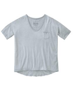 Lys grå t-skjorte med v-hals - økologisk bomull og hamp » Etiske & økologiske klær » Grønt Skift