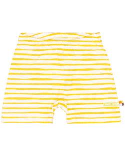 Gul stripete shorts - 100 % økologisk bomull » Etiske & økologiske klær » Grønt Skift