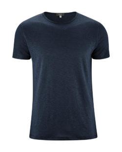 Mørkeblå t-skjorte - 100 % økologisk lin » Etiske & økologiske klær » Grønt Skift
