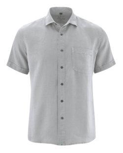 Grå skjorte med korte ermer - 100 % hamp » Etiske & økologiske klær » Grønt Skift