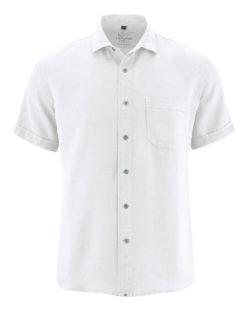 Hvit skjorte med korte ermer - 100 % hamp » Etiske & økologiske klær » Grønt Skift