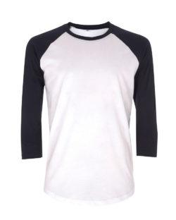 Baseball trøye i hvit og mørkeblå - 100 % økologisk bomull » Etiske & økologiske klær » Grønt Skift