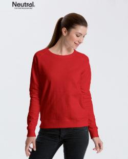 Rød collegegenser - 100 % økologisk bomull » Etiske & økologiske klær » Grønt Skift