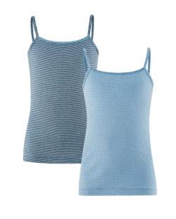 2 pack singleter i blått - 100 % økologisk bomull » Etiske & økologiske klær » Grønt Skift