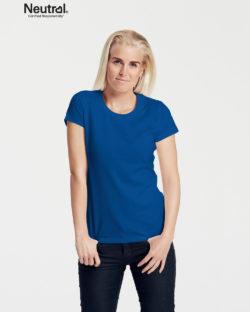 Kongeblå slightly fitted t-skjorte - 100 % økologisk bomull » Etiske & økologiske klær » Grønt Skift