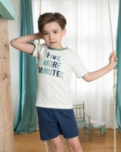 """""""Five more minutes"""" pysjamas i 100 % økologisk bomull » Etiske & økologiske klær » Grønt Skift"""
