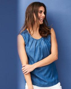Blå jeans topp i 100 % lyocell (Tencel®) » Etiske & økologiske klær » Grønt Skift
