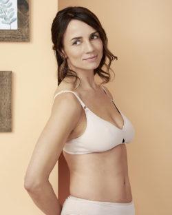 Gabriela beige trekant BH uten spiler - økologisk bomull » Etiske & økologiske klær » Grønt Skift
