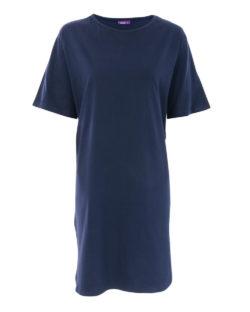 Mørkeblå nattkjole - 100 % økologisk bomull » Etiske & økologiske klær » Grønt Skift