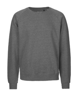 Mørkegrå unisex collegegenser - 100 % økologisk bomull » Etiske & økologiske klær » Grønt Skift