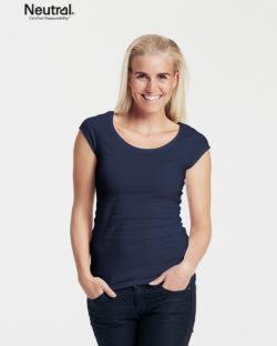 Mørkeblå t-skjorte med rund hals - 100 % økologisk bomull » Etiske & økologiske klær » Grønt Skift