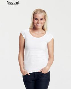 Hvit t-skjorte med rund hals - 100 % økologisk bomull » Etiske & økologiske klær » Grønt Skift