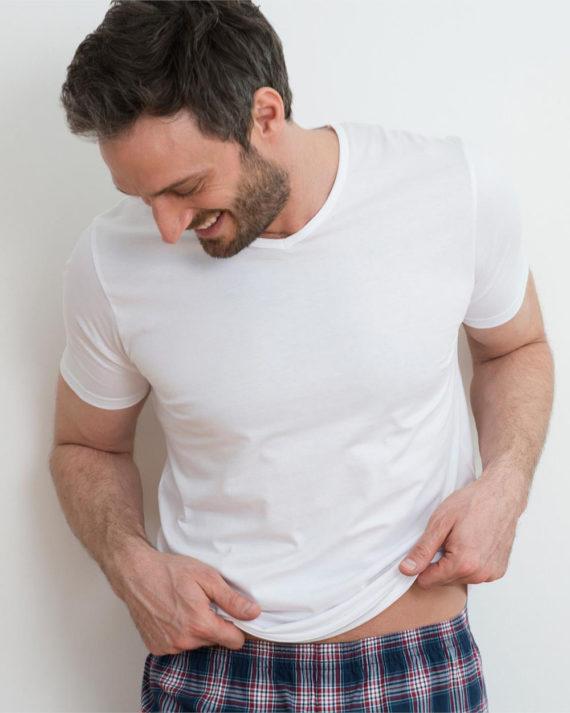 2 pack hvite t-skjorter i 100 % økologisk bomull 2